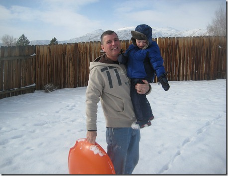 12 30 12 - Sledding and snowmen with Papa (1)