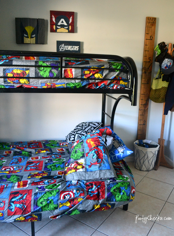 Avengers Super Hero Bedroom - Shared Boys Bedroom
