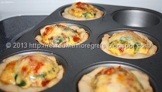 Breakfast Bacon N Egg Biscuit Cups - just out of the oven