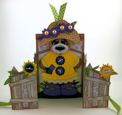 Garden Bear Retirement Gatefold Pocket Card2