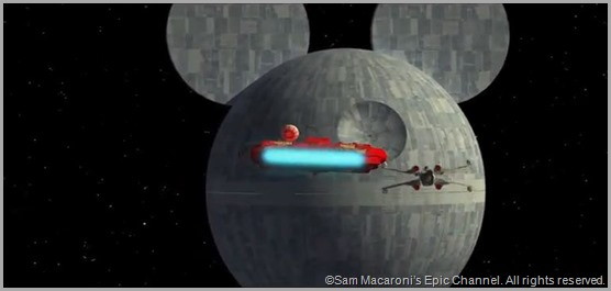 The Disney Death Star from STAR WARS VII: RETURN OF THE EMPIRE.