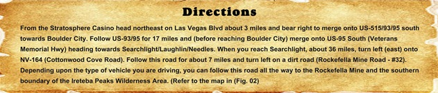 Directions - Ireteba Peaks Wilderness Area