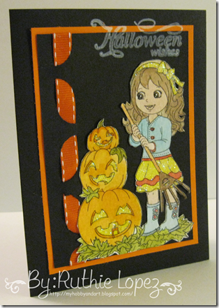 Angelica Stacked Pumpkins - Inky Impressions - Ruthie Lopez DT - My Hobby = My Art