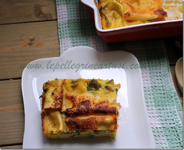 lasagne ai broccoli e zafferano 002