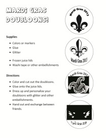 Mardi Gras Doubloons #Printable #free www.myveryeducatedmother.com