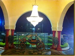 Horse Carriage at the entrance of Noor us Sabah palace