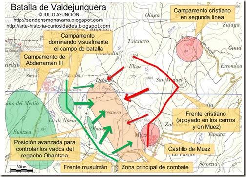 Mapa batalla de Valdejunquera - inicio