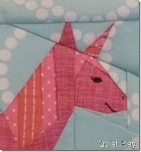 All Pink Paper Pieced Unicorn sneak peek