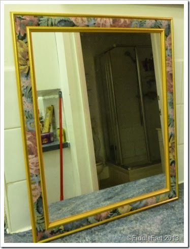 Boudoir Bathroom Mirror Charity shop find