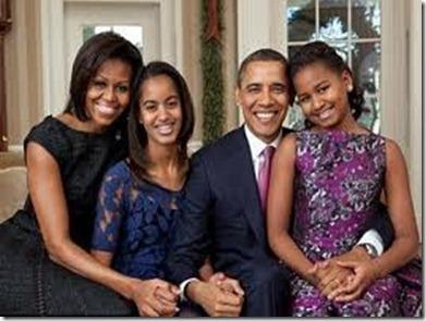 أوباما و عائلته