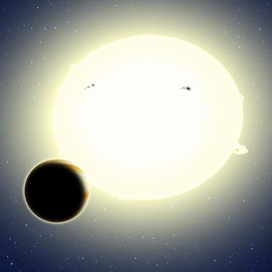 ilustração do sistema Kepler-76