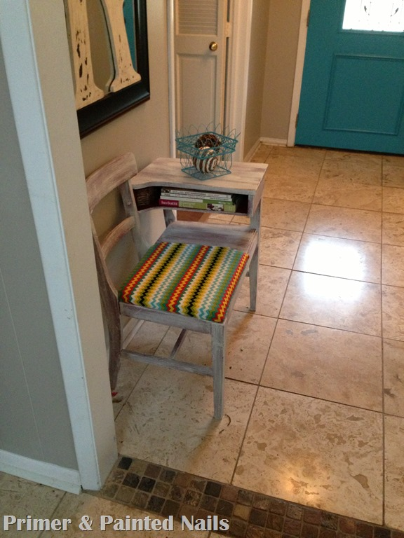 Colorful ZigZag Chair - Primer & Painted Nails