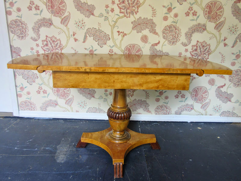 Biedermeier Style Drop Leaf Table