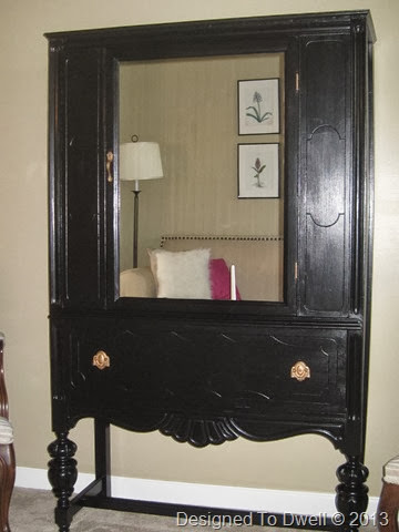 Black Mirrored China Cabinet