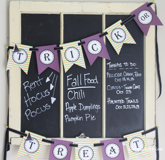 Free Halloween Banner Printable by Poofy Cheeks