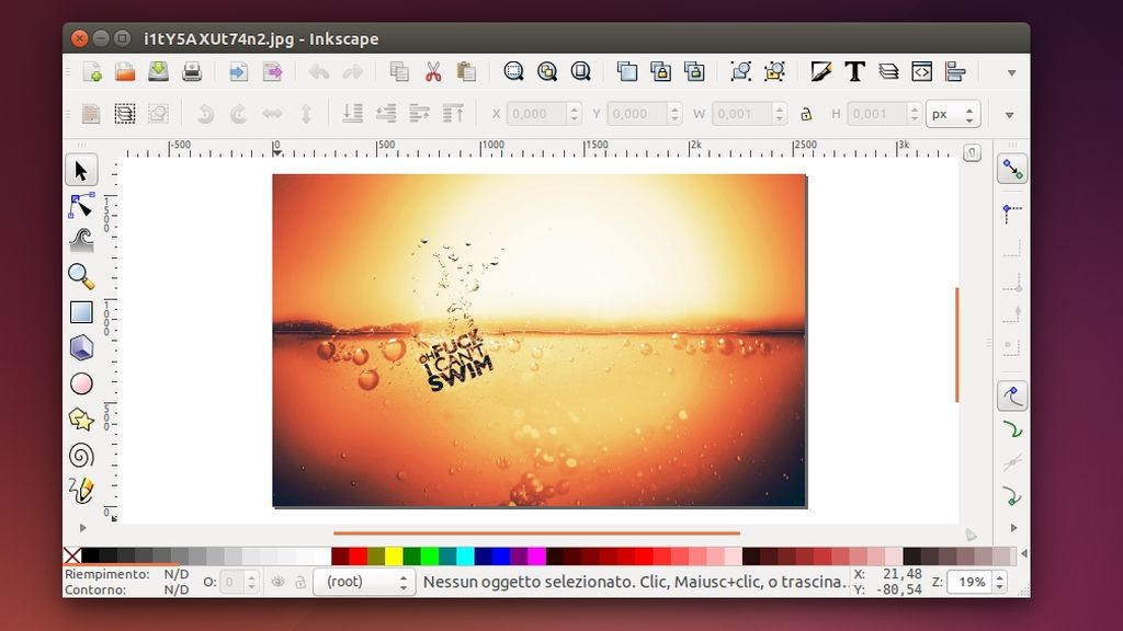 Inkscape in Ubuntu Linux