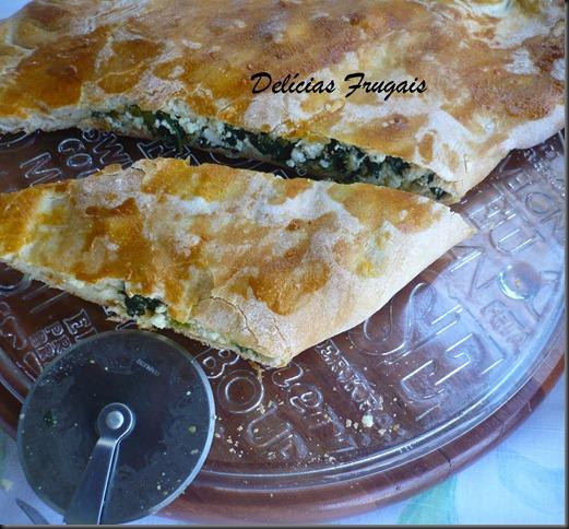 Calzone de espinafre e ricota - Delicias Frugais