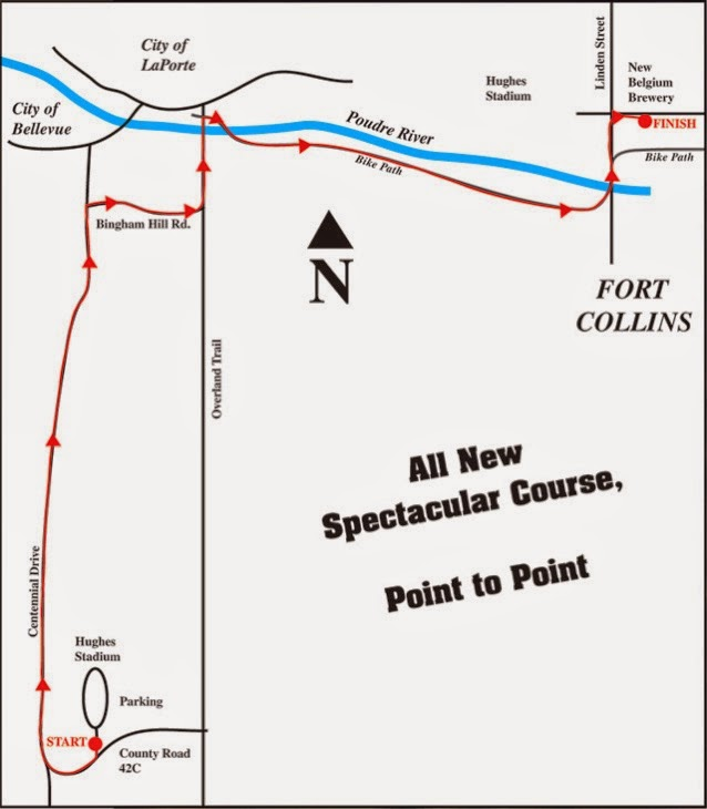 Horsetooth half marathon map