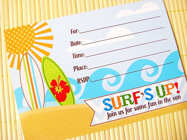 surfs up invitation