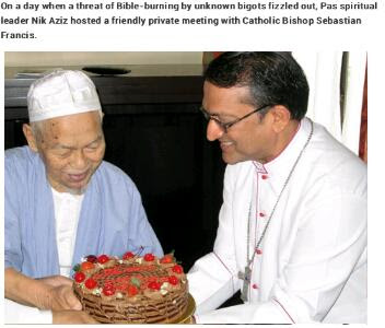 Gambar TG Nik Aziz Berjumpa Dengan Bishop Sebastian