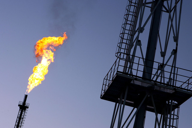 Emissions from flaring, or burning of natural gas, methane and hydrogen sulphide associated with oil production, have risen in each of the last three years. Photo: Lucas Schifres / Bloomberg