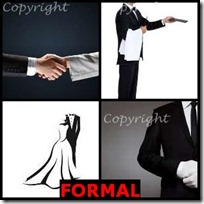 FORMAL- 4 Pics 1 Word Answers 3 Letters
