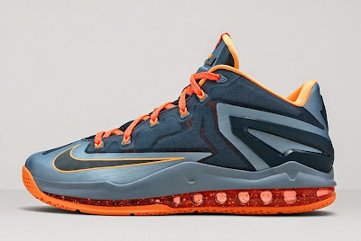 nike lebron 11 low gr grey orange lava 2 04 Nike LeBron 11 Low Magnet Grey Available Now