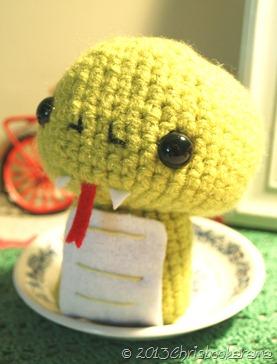 Chinese Snake crochet
