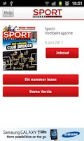 Screenshot of Sport/Voetbalmagazine
