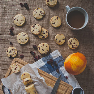 Cranberry Orange Shortbread Cookies.