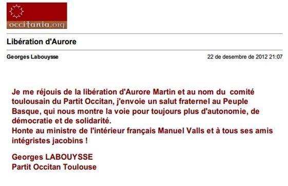 Aurore Martin Comunicat POC