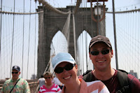 Kellie and Jason on the Brooklyn Bridge