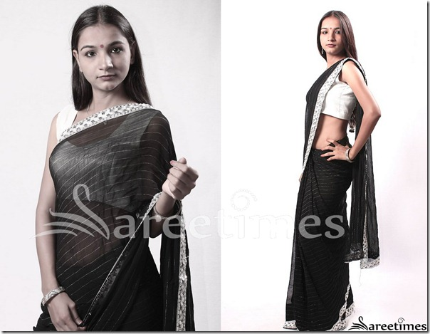 Nirmalya_Black_Georgette_Saree