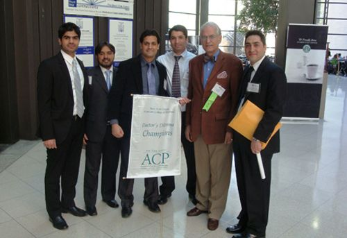 ACP Medical Jeopardy champions and poster presenters at Mount Sinai, New York (April 2010)