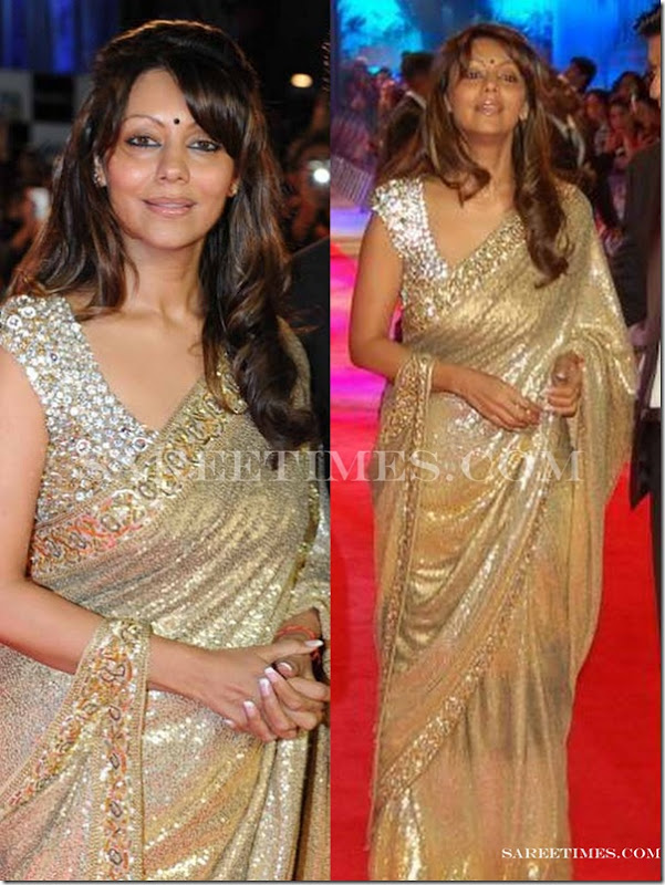 Gauri_Khan_Gold_Saree