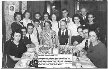 Weber/Kuhn members gathered in 1939