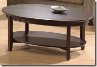 Bogdon and Gross oval coffee table 6407