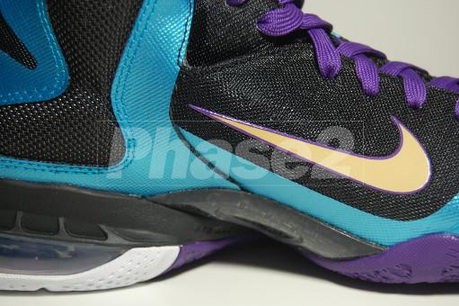 Nike LeBron 9 iD BlackAquaGoldPurple by Phase2x
