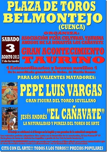 cartel belmontejo 2013 final