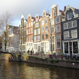 gorgeous canal houses in downtown Amsterdam in Amsterdam, Noord Holland, Netherlands