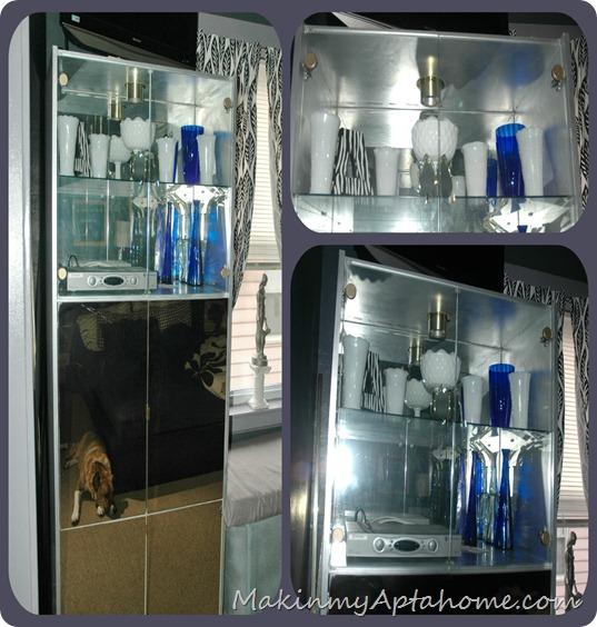 white milk glass tv cabinet bedroom