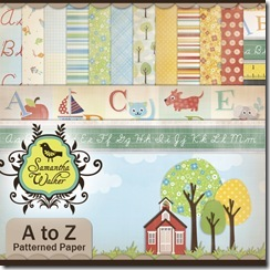 SW A to Z patterned paper pack preview