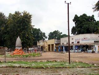 Une vue d'un quartier commercial de Manono, 450 km au Sud Ouest de Kalemie (Katanga/RDC).