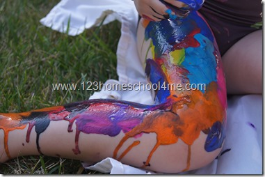 Summer Activites for Kids - Frozen Paint