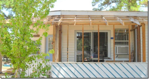 New-screen-porch roof