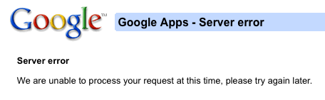 Google Apps Error