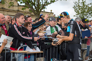 Christian Knees of Team Sky signing autographs
