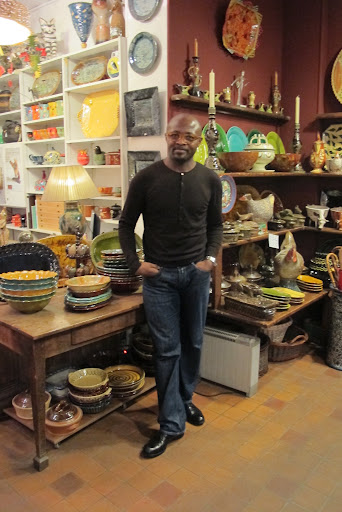 Eric Goujou in his beautiful shop that was chock-full of treasures.