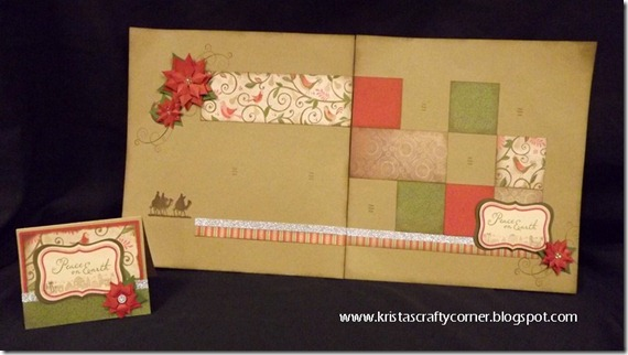 Pear   Partridge layout-matching card_Glory to God stamp set_poinsettia artiste flowers