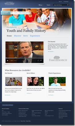 A new FamilySearch website for teenage members of the Church of Jesus Christ of Latter-day Saints